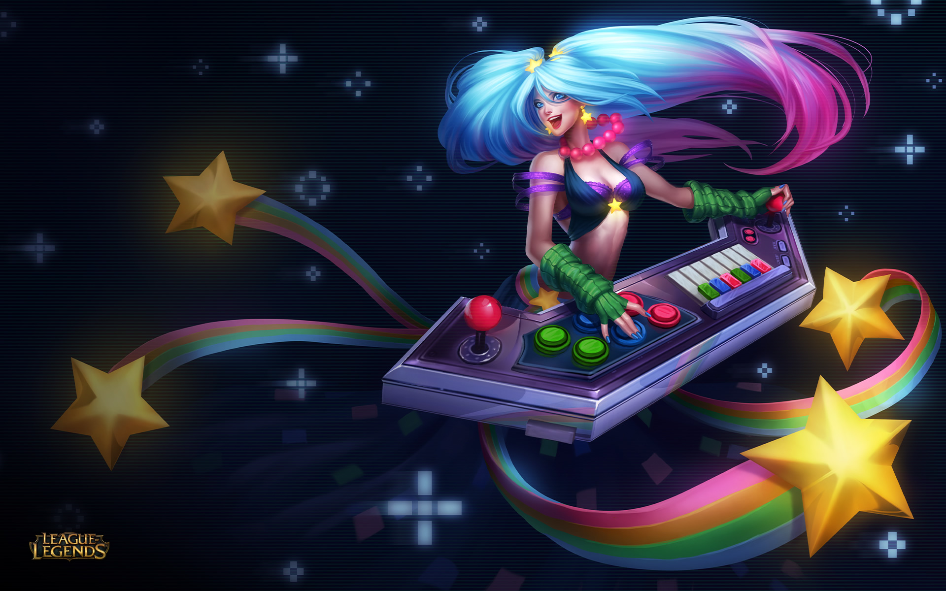 Arcade Sona Wallpaper