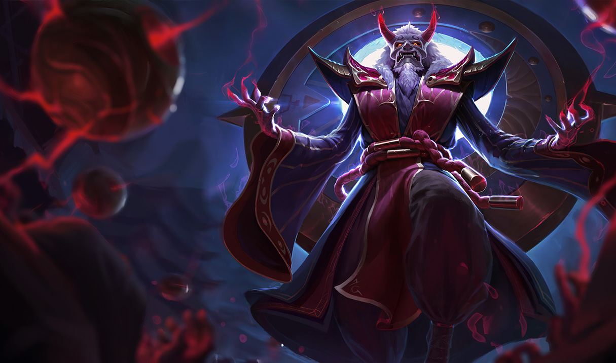 Official splash artwork for Blood Moon Zilean skin, revealed in April ... Orianna Splash Art