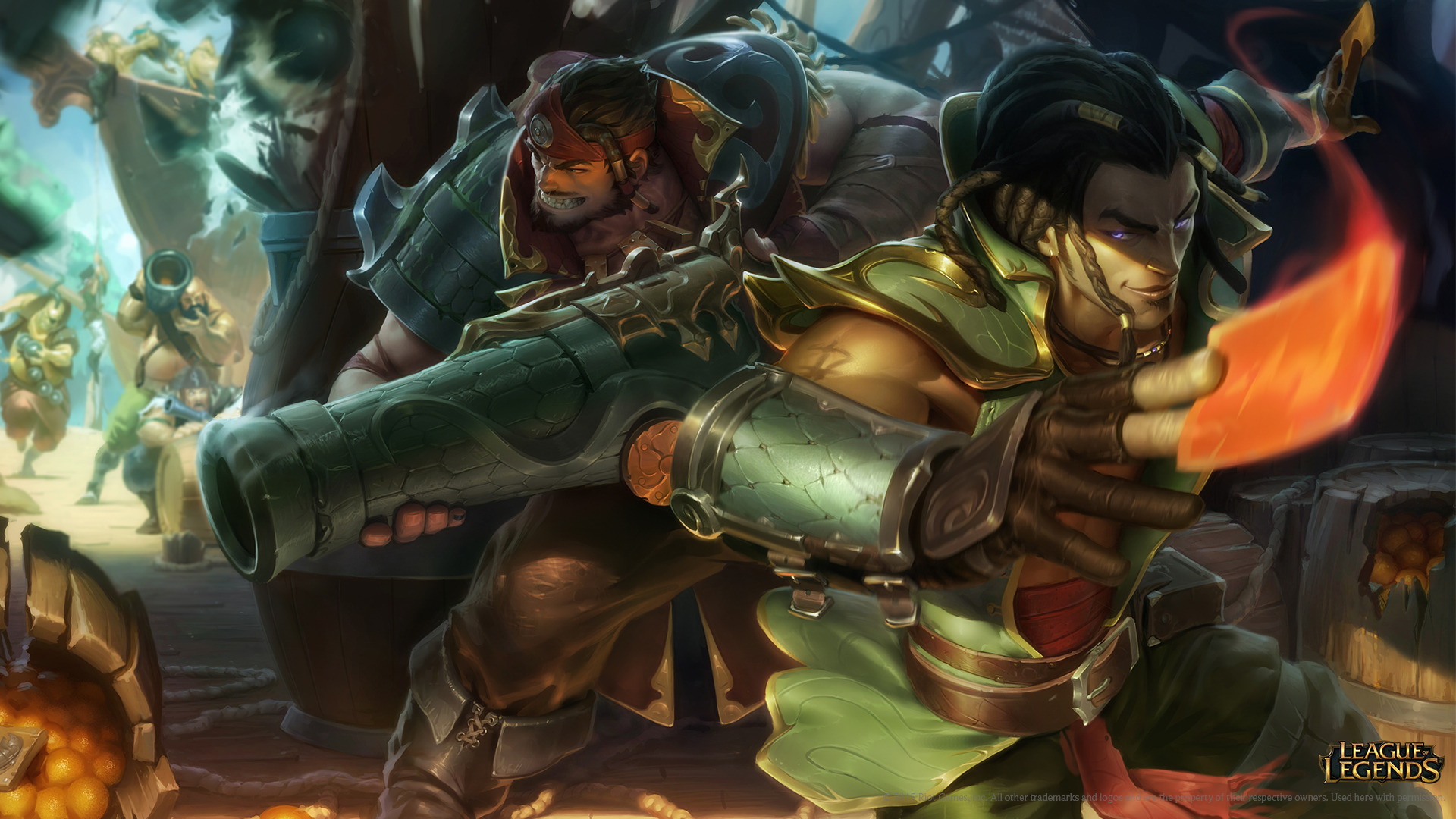 Cutthroat Graves And Cutpurse Twisted Fate Skins Wallpaper