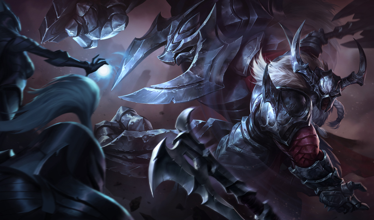 Shared splash artwork for Marauder Olaf and Marauder Alistar skins ... Orianna Splash Art