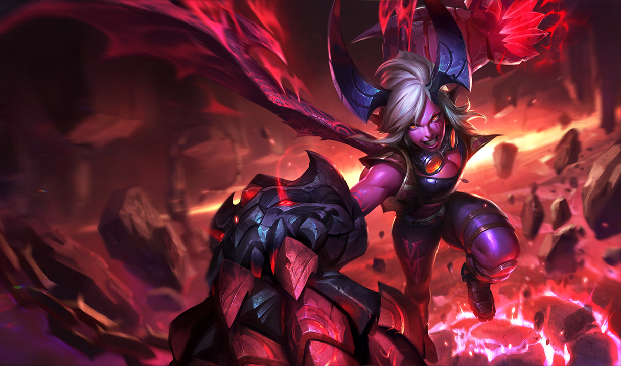 Demon Vi Skin League Of Legends Wallpapers