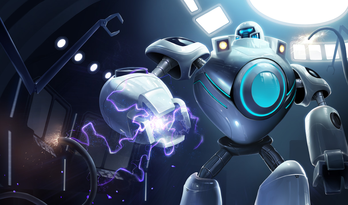 Official splash art for iBlitzcrank skin, revealed in February 2013 ... Orianna Splash Art