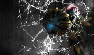 Bladecraft Orianna screen crack wallpaper