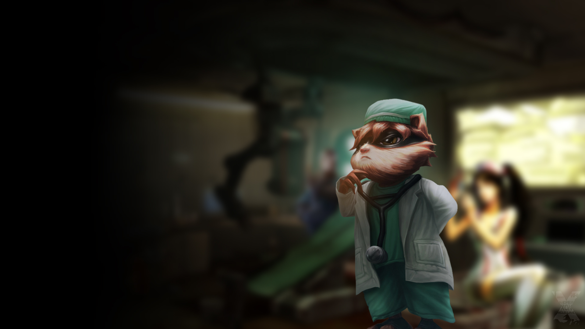 Kinkou Order Hospital by Andrew Xon McLelland - League of Legends ... Orianna Splash Art