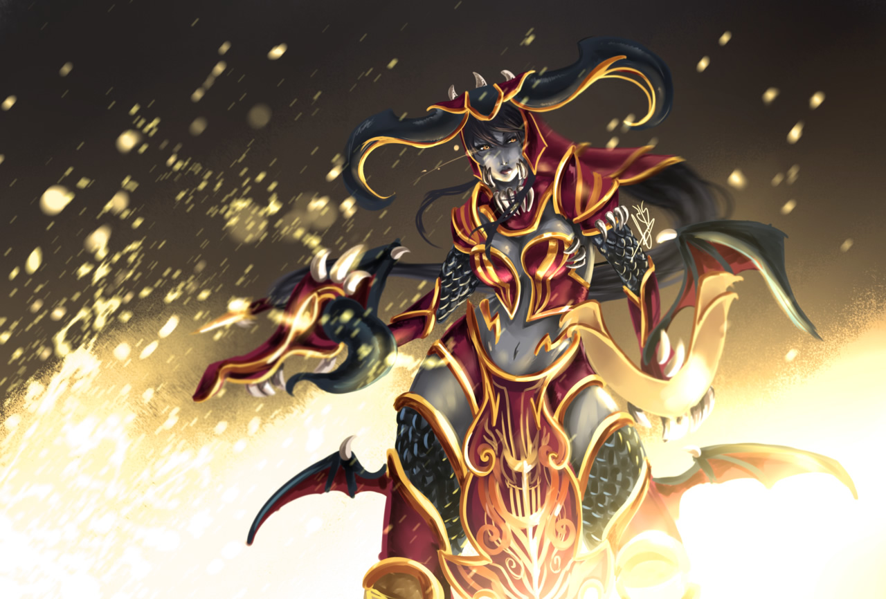 Shyvana Redesign By Hannah515 League Of Legends Wallpapers