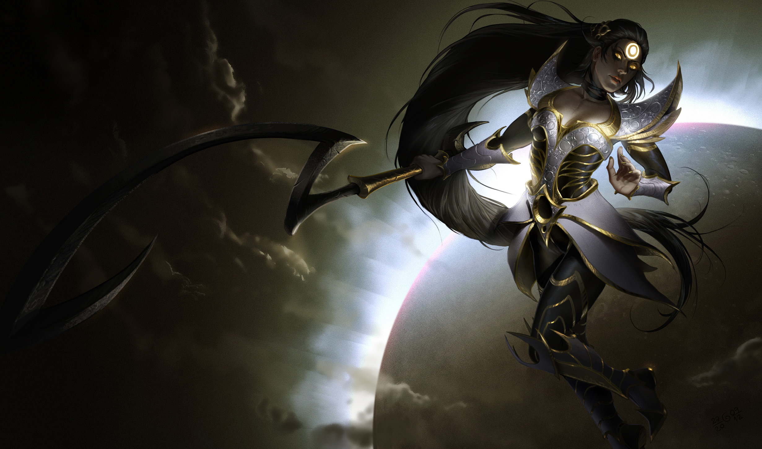 Eclipse Diana By Gisalmeida League Of Legends Wallpapers