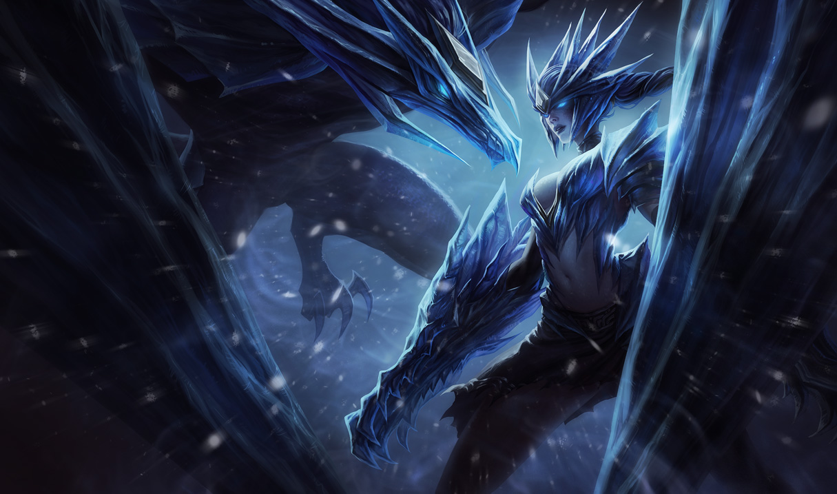 Ice Drake Shyvana Skin League Of Legends Wallpapers