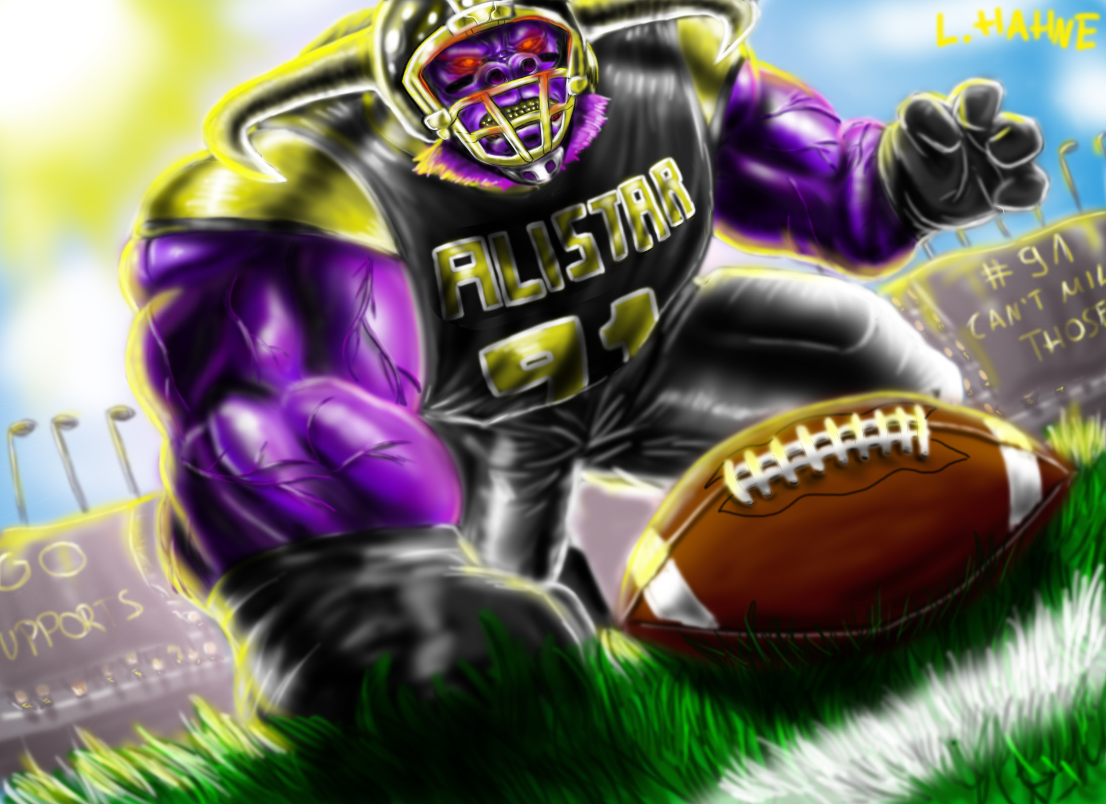 Defensive Lineman Alistar by JimtheSlim222