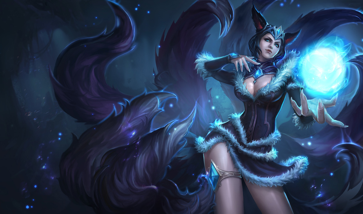 Midnight Ahri Skin - Chinese - League of Legends Wallpapers