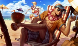 Pool Party Lee Sin Skin Splash Art