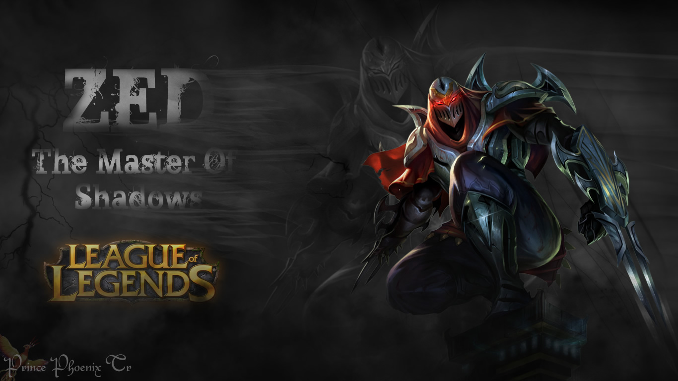 Zed Wallpaper By Prince Phoenix Tr League Of Legends