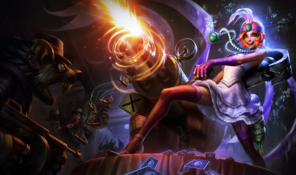 Official splash artwork for Jinx's release skin, Mafia Jinx. Orianna Splash Art