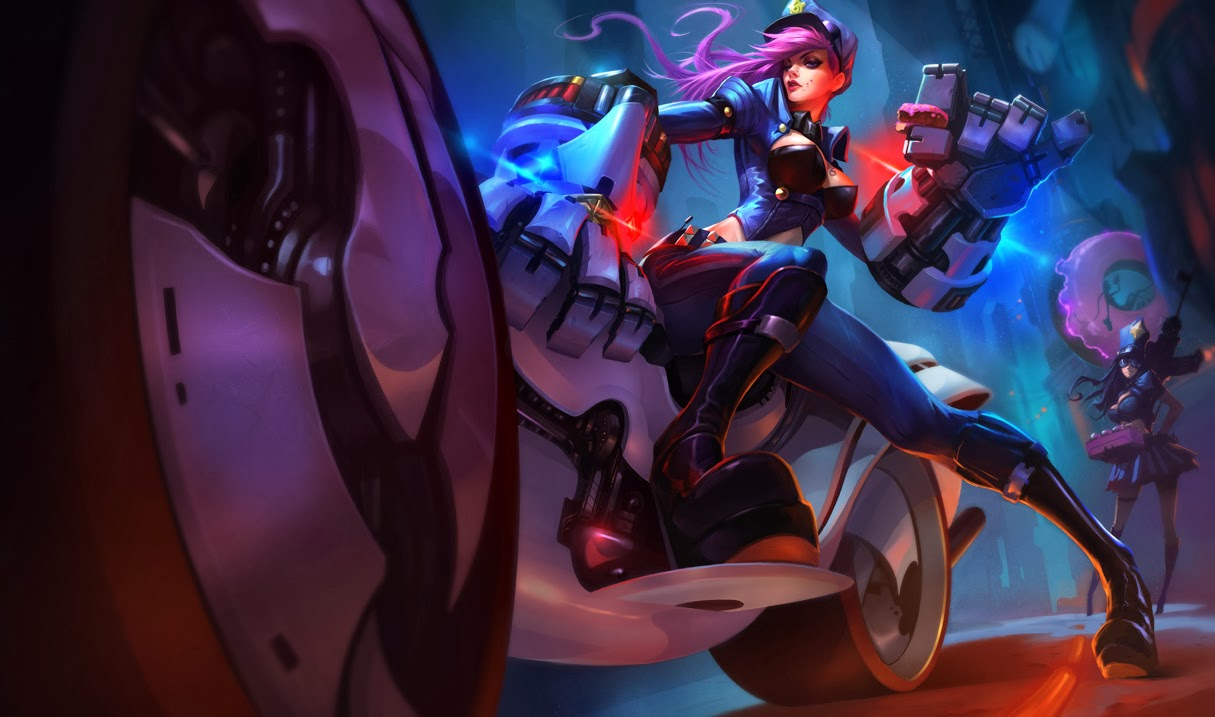 Officer Vi Skin Splash Art
