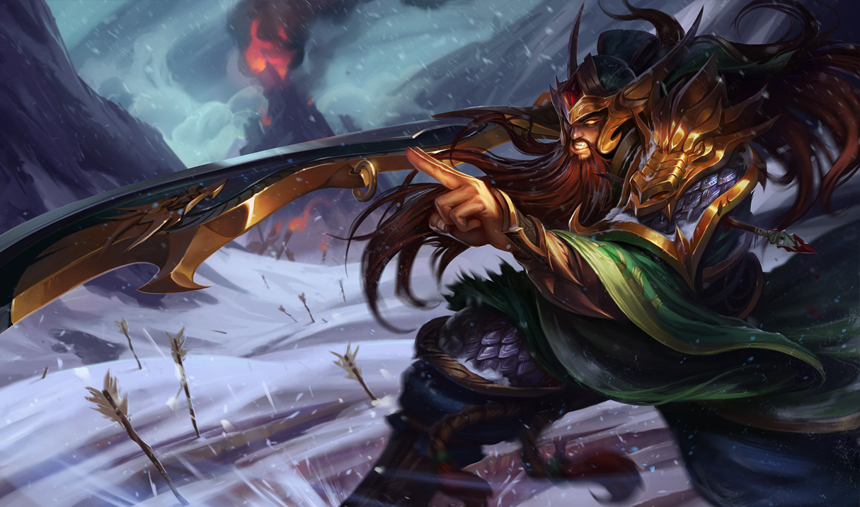 Warring Kingdoms Tryndamere Splash Art