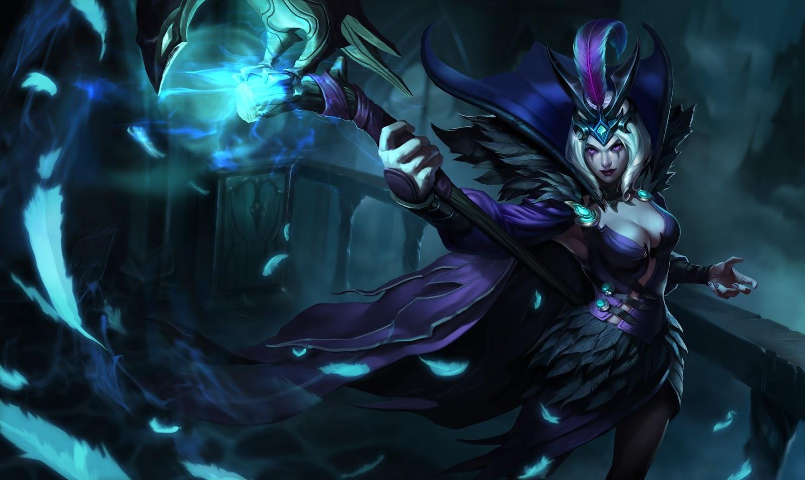Official splash art for Ravenborn LeBlanc skin, first revealed in ...