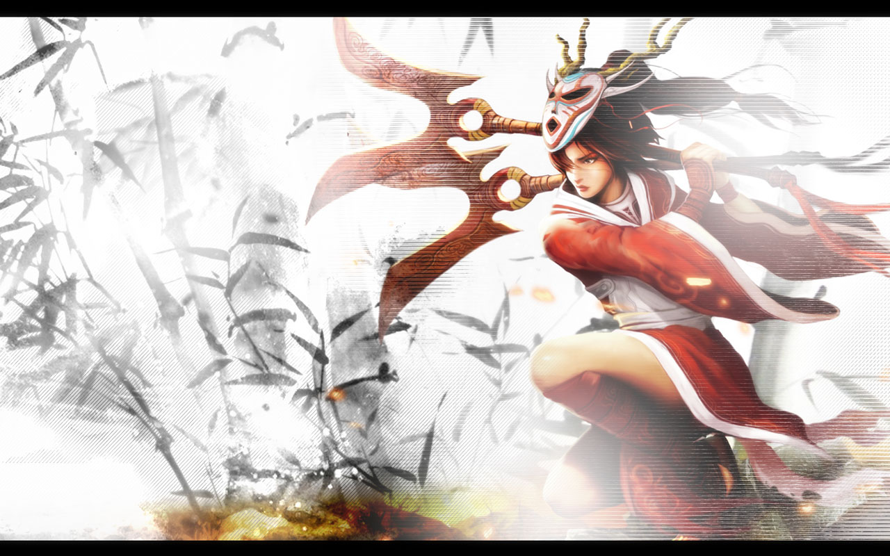 ... -made artwork based on official splash art for Blood Moon Akali skin Orianna Splash Art