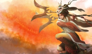 Bloodmoon Akali Fanart (1)