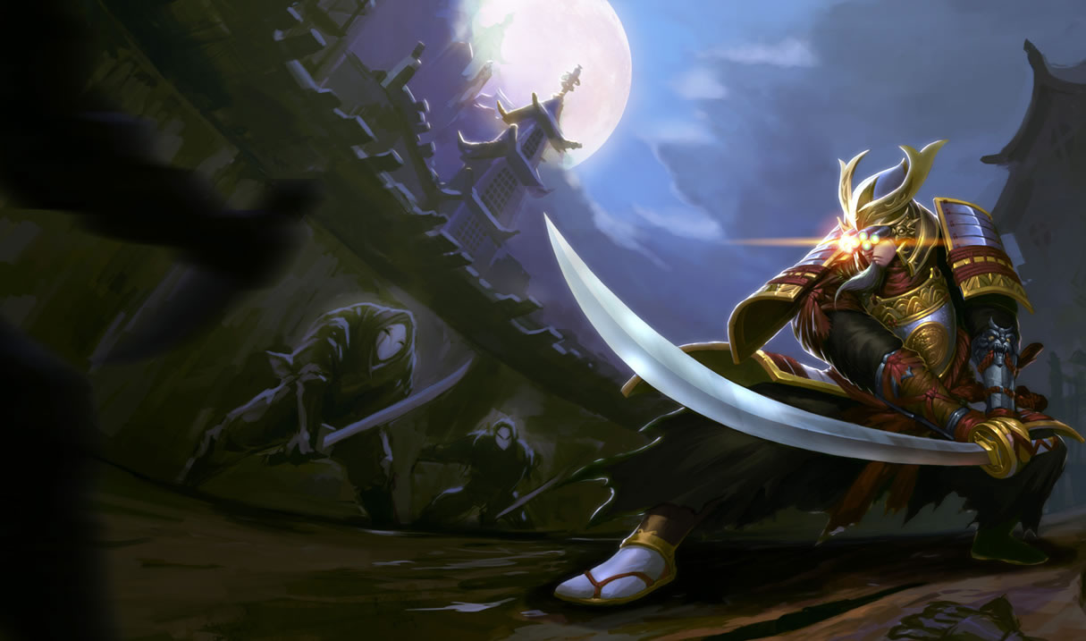 Samurai Master Yi - Chinese Splash Art