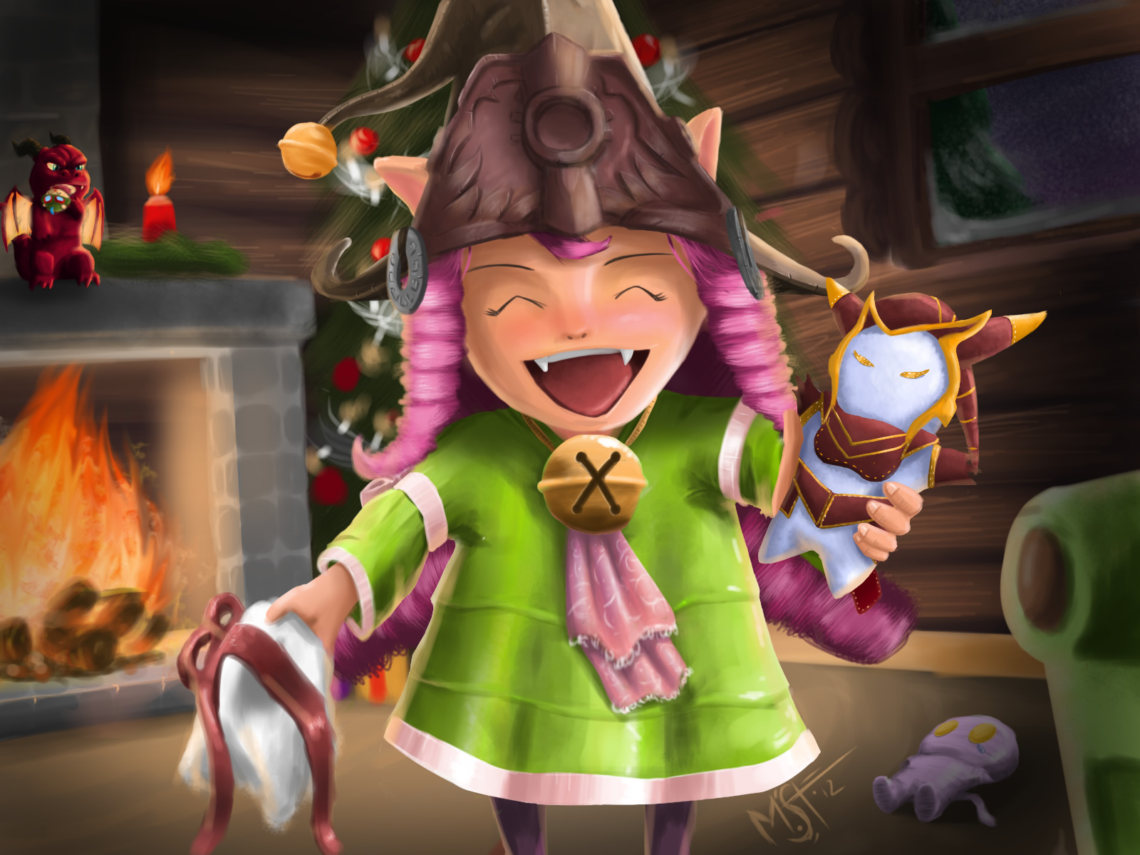 Christmas Lulu By Madmoki League Of Legends Wallpapers