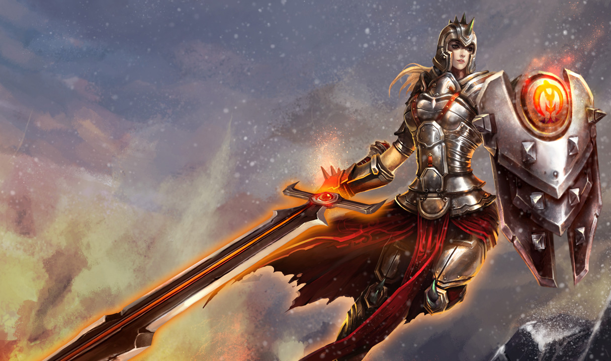 Defender Leona Skin Chinese League Of Legends Wallpapers
