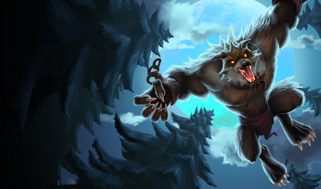 Feral Warwick Skin Chinese League Of Legends Wallpapers