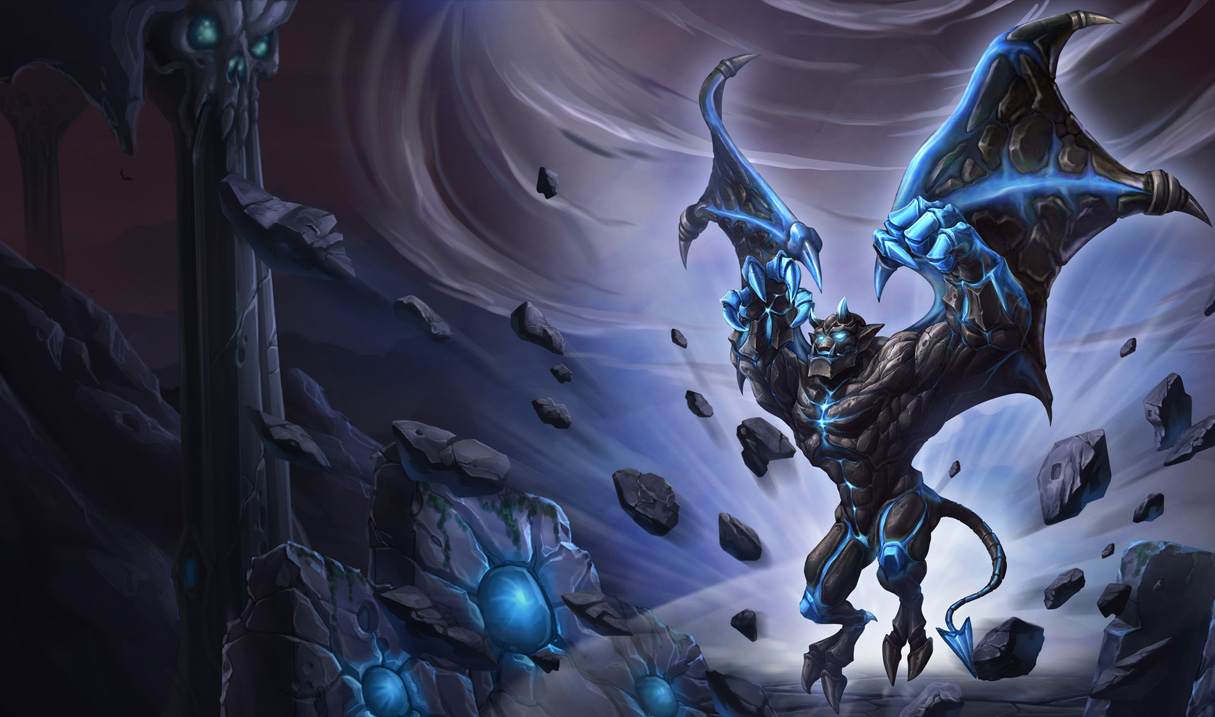Splash artwork for Enchanted Galio skin from Chinese League of Legends ...