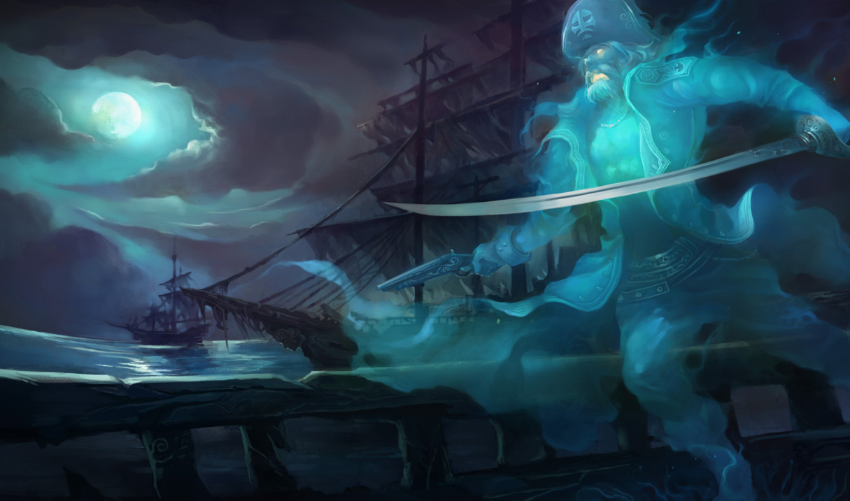 Spooky Gangplank Skin Chinese League Of Legends Wallpapers