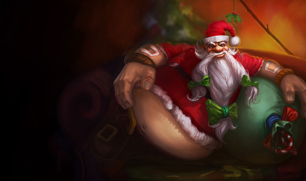 Santa Gragas Skin League Of Legends Wallpapers