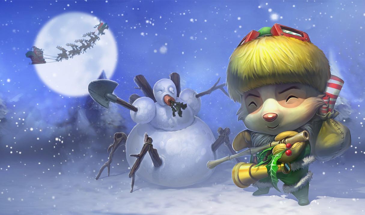 Happy Elf Teemo Skin Updated League Of Legends Wallpapers