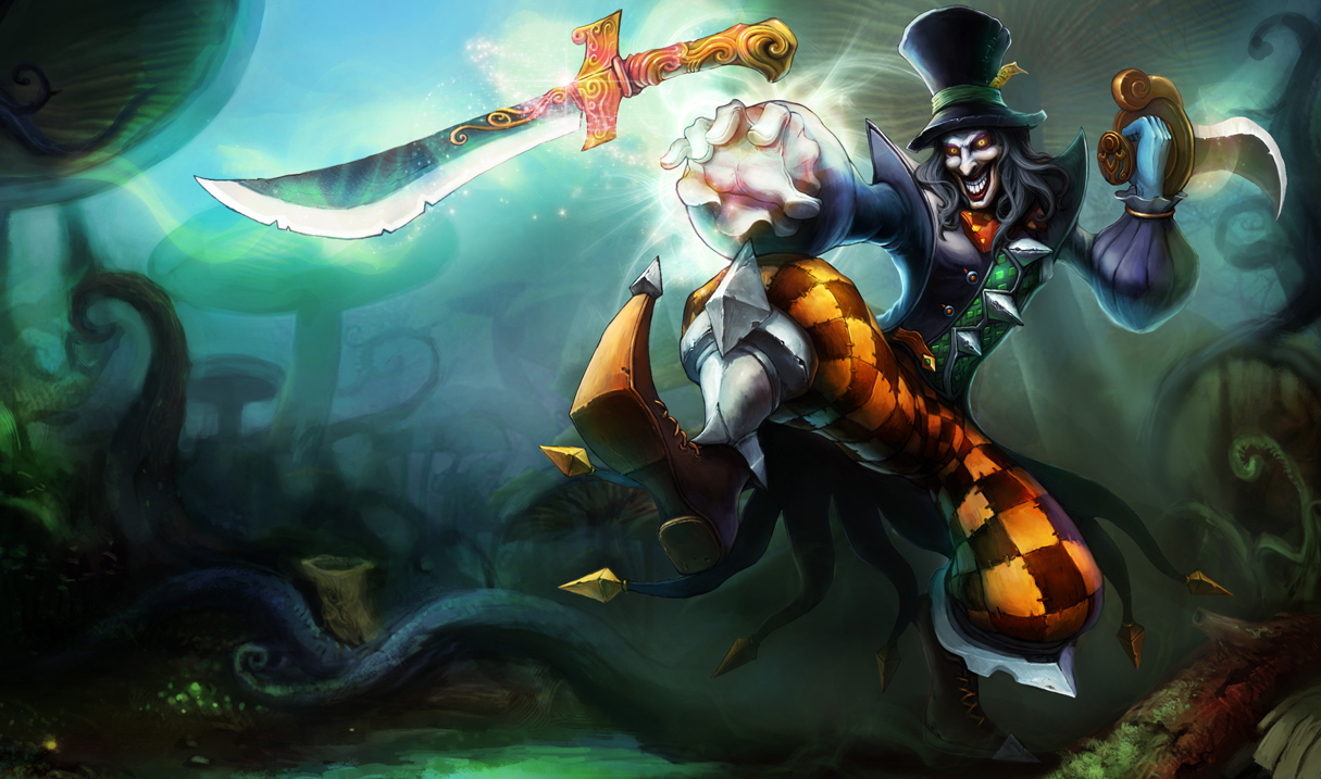 Mad Hatter Shaco Skin Chinese League Of Legends Wallpapers