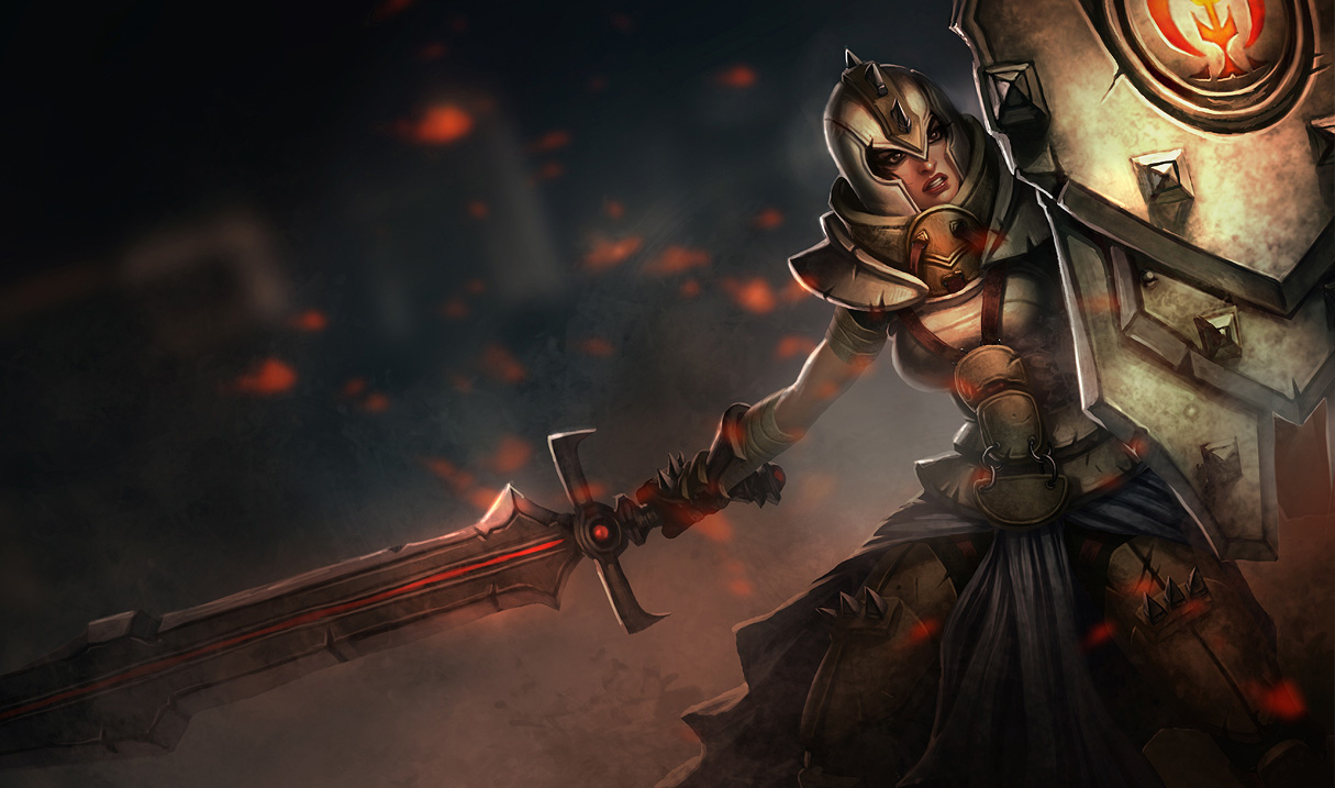 Defender Leona Skin League Of Legends Wallpapers