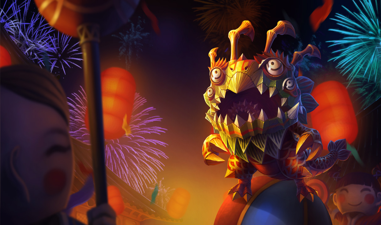Lion Dance Kog'Maw Skin - Chinese