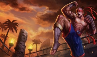 Muay Thai Lee Sin splash art