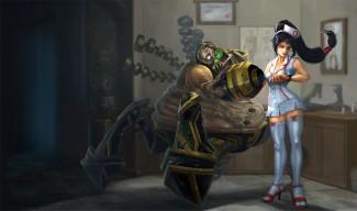Nurse Akali with Urgot