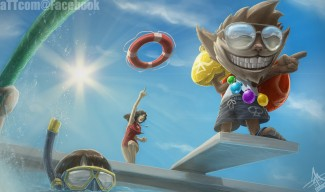 Pool Party Ziggs fanart by Mattcomgo