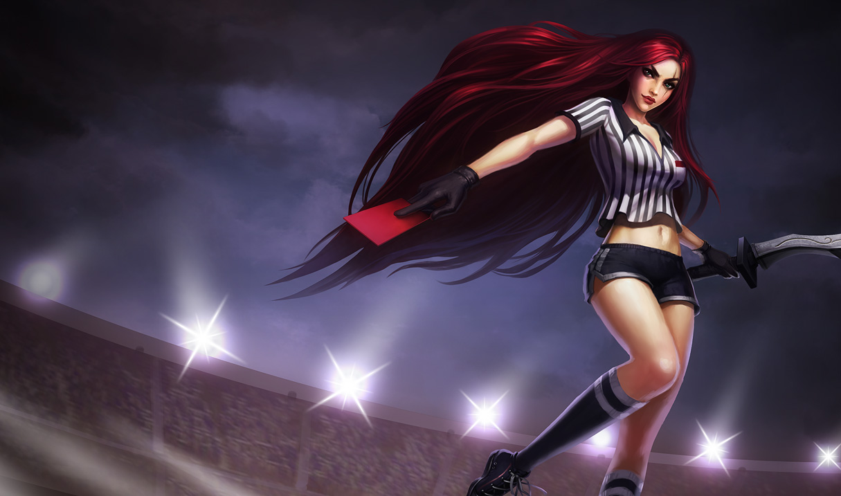 Red Card Katarina Skin - Updated