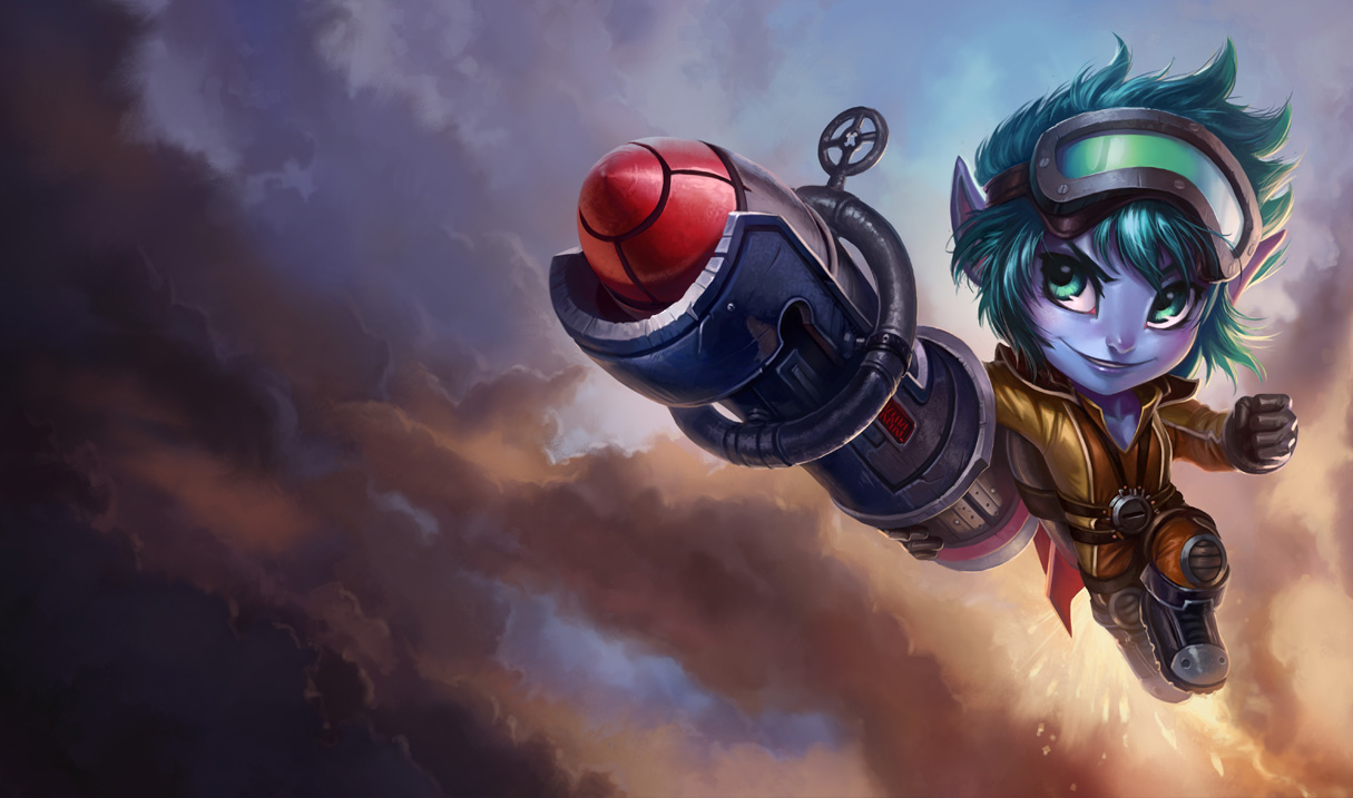 Rocketeer Tristana Skin - Updated