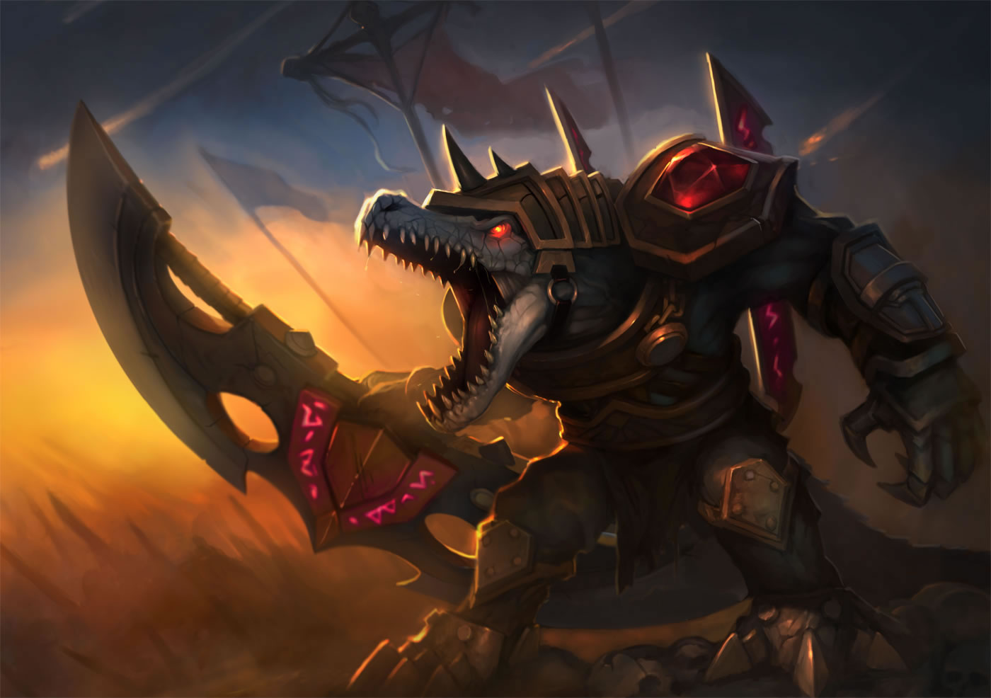 Official splash art for Rune Wars Renekton skin, released in May 2012. Orianna Splash Art