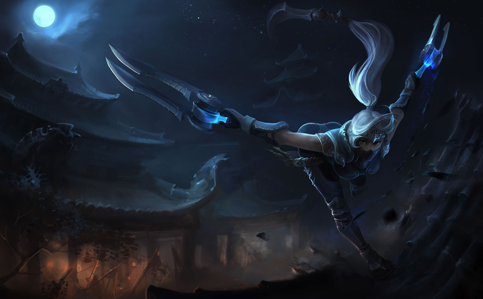 Silverfang Akali Chinese League Of Legends Wallpapers