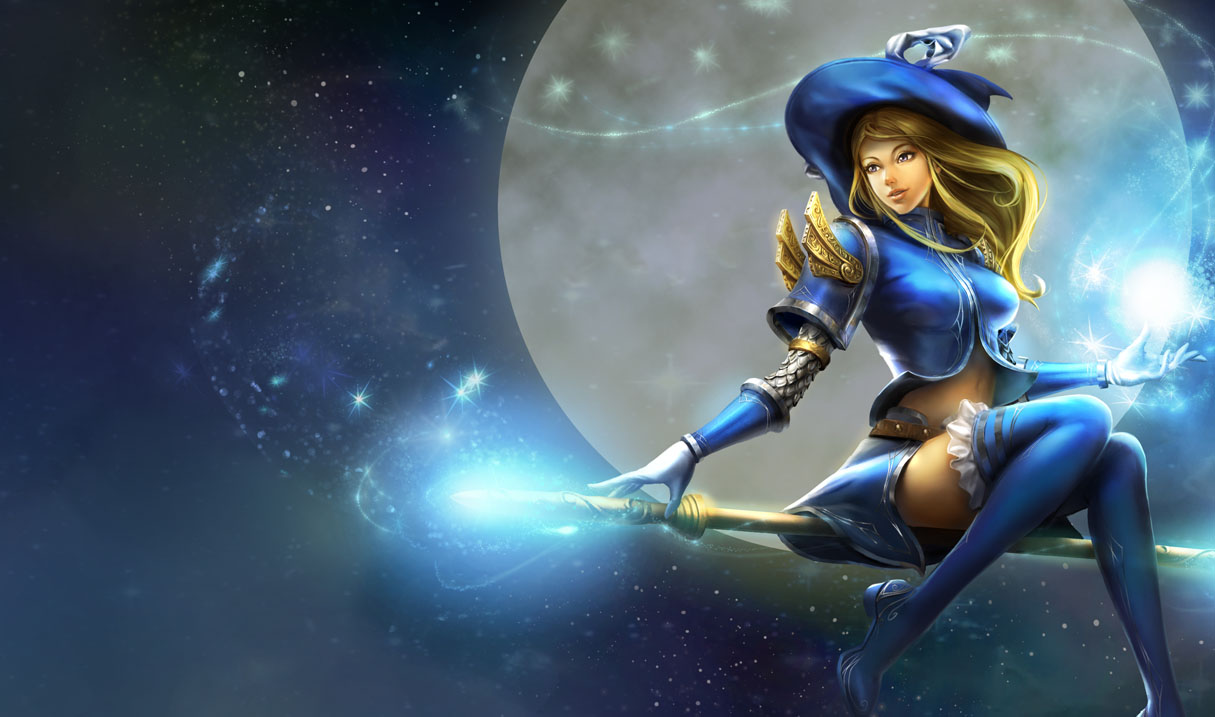 Splash art for Sorceress Lux skin from Chinese League of Legends ...
