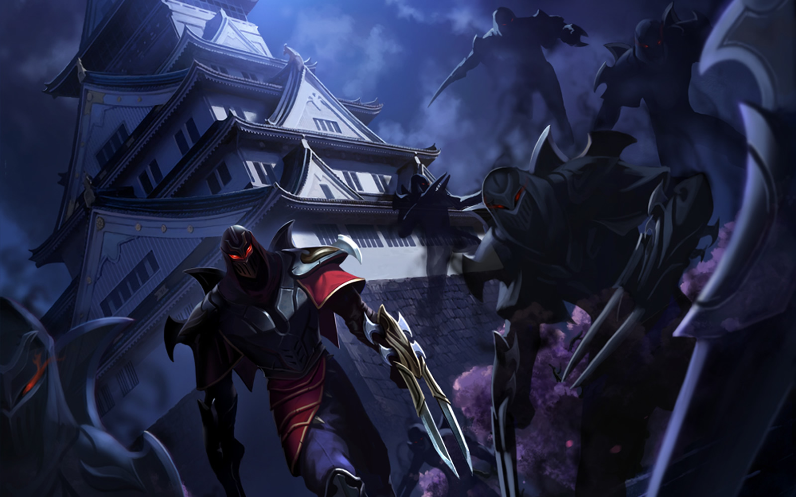 Wallpaper made out of zed s sneak peek image released by riot you