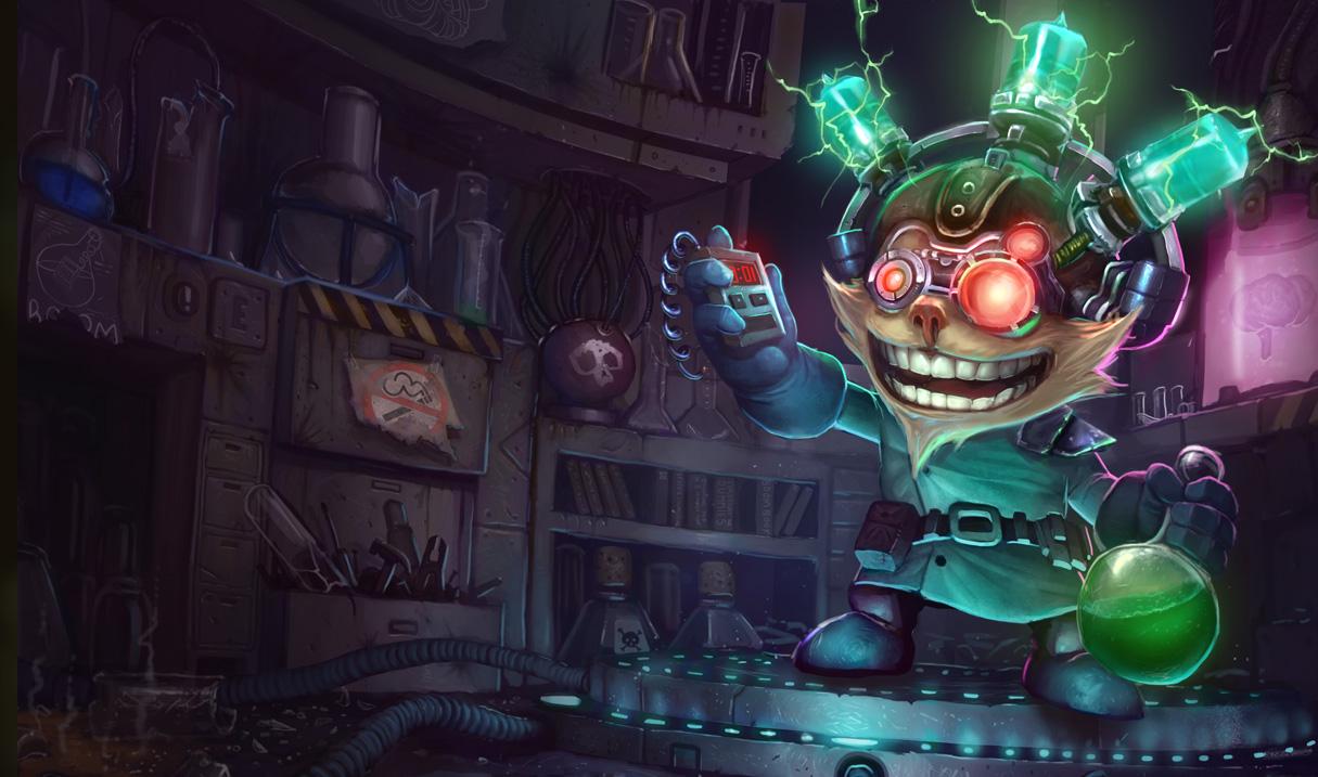 Mad Scientist Ziggs Skin