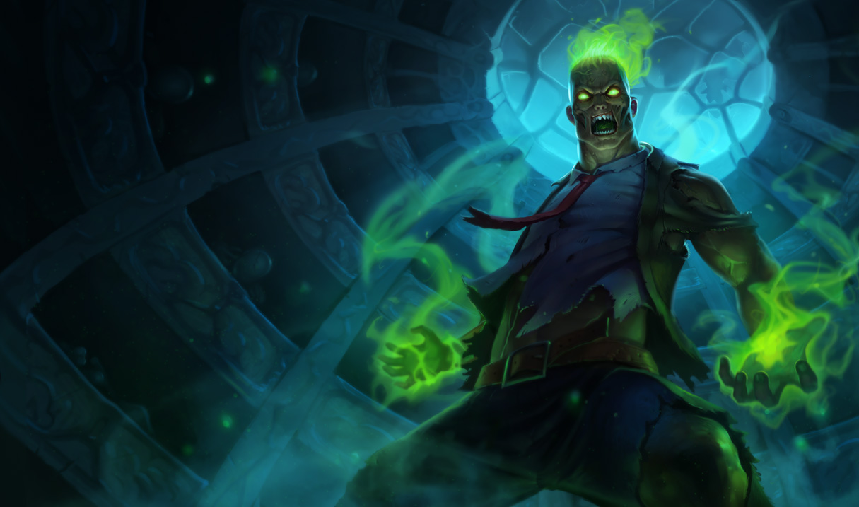 Zombie brand skin league of legends wallpapers for Brand wallpaper
