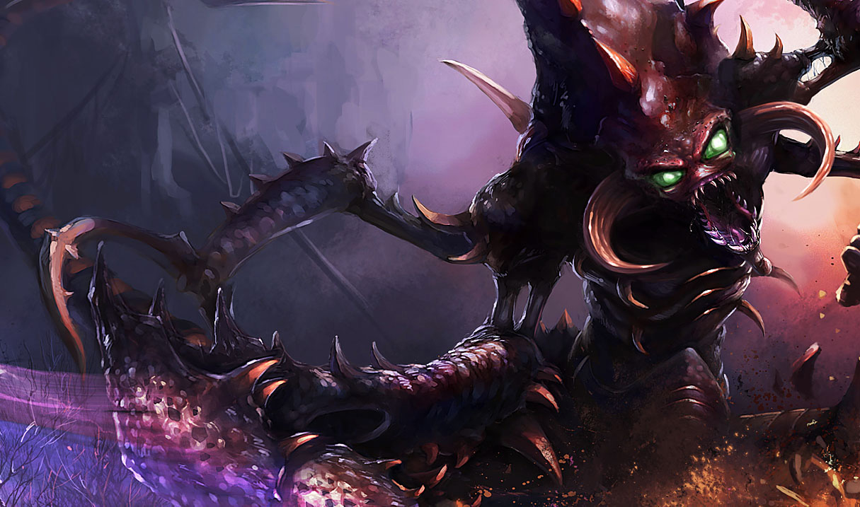 Official splash art for classic Cho'Gath skin from the Chinese LoL ... Orianna Splash Art
